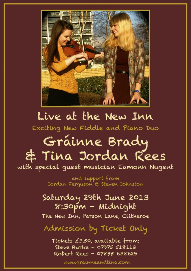G&T Clitheroe gig - June 29th